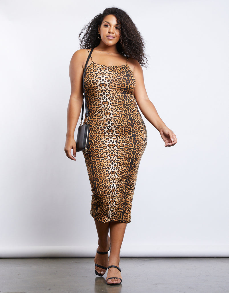 Curve Leo Bodycon Dress Plus Size Dresses -2020AVE