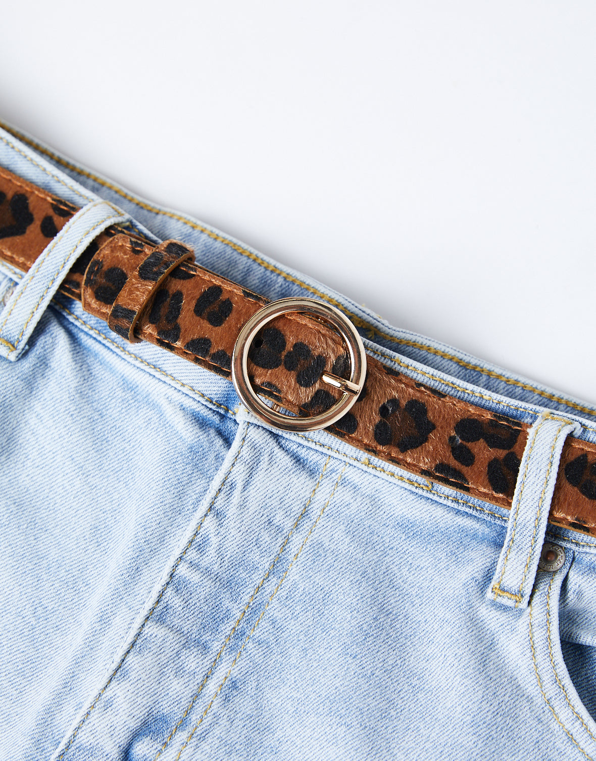 Plus Size Cheetah Belt