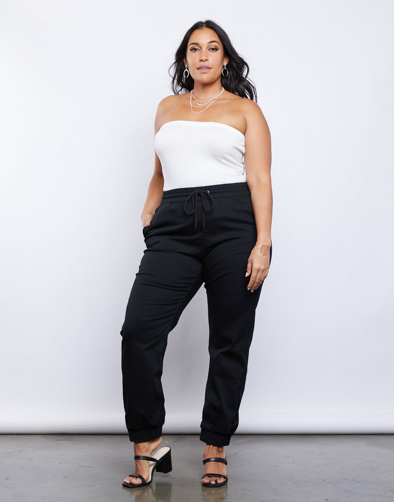 Curve Lounge Around Joggers Plus Size Bottoms -2020AVE