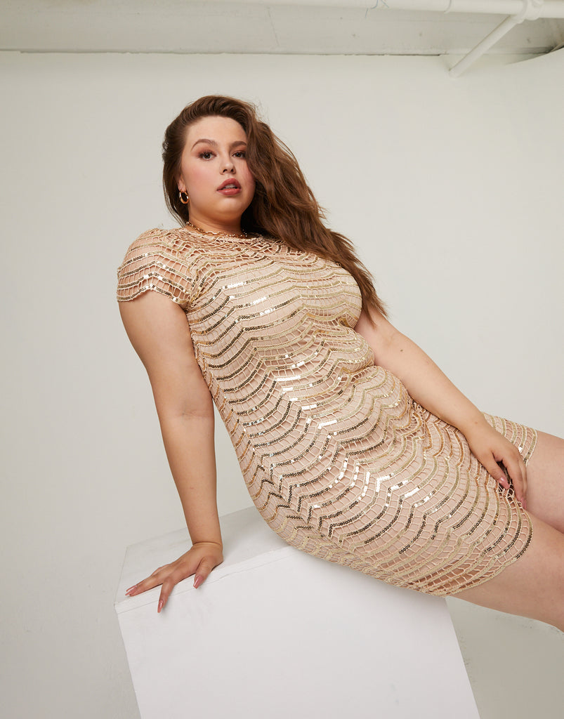 Curve Sequin Dress Plus Size Dresses -2020AVE