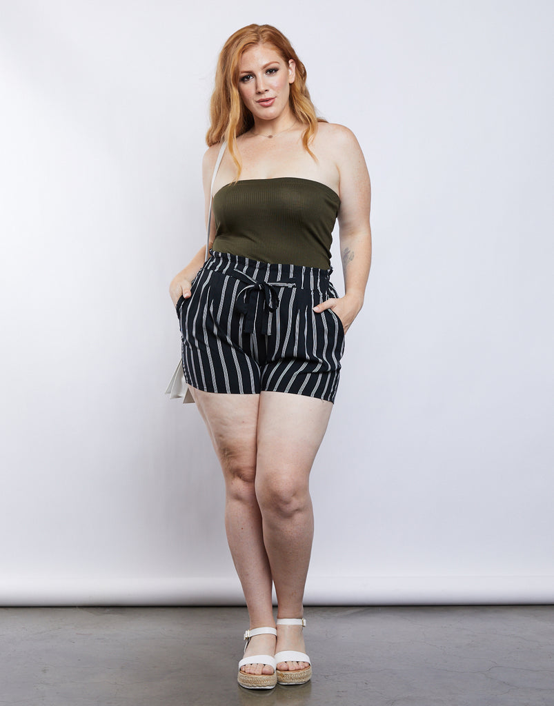 Curve Summer Tube Top Plus Size Tops -2020AVE