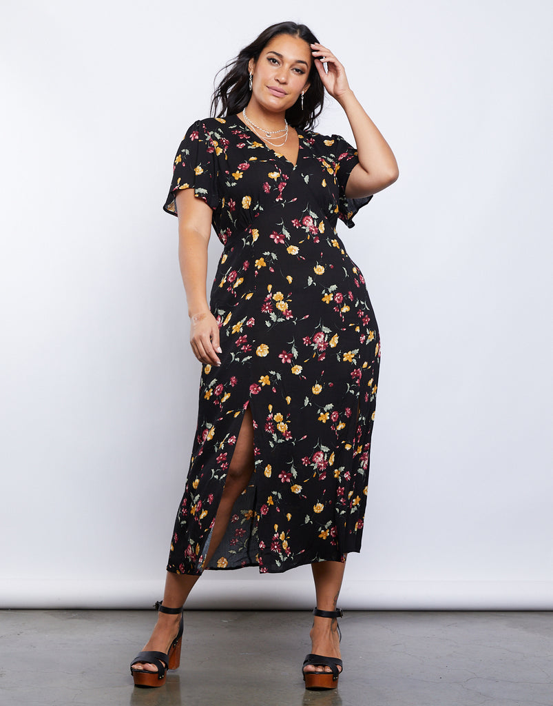 Curve Vintage Vibes Dress Plus Size Dresses Black 1XL -2020AVE