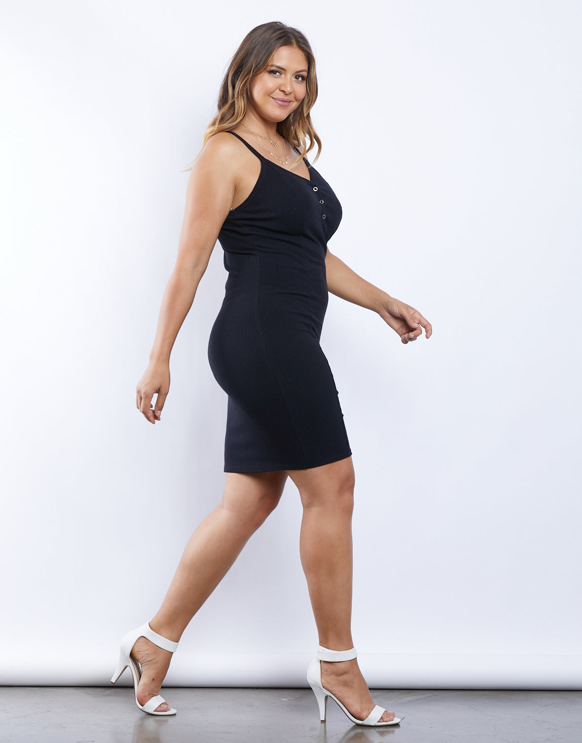 Plus Size Aila Ribbed Knit Dress