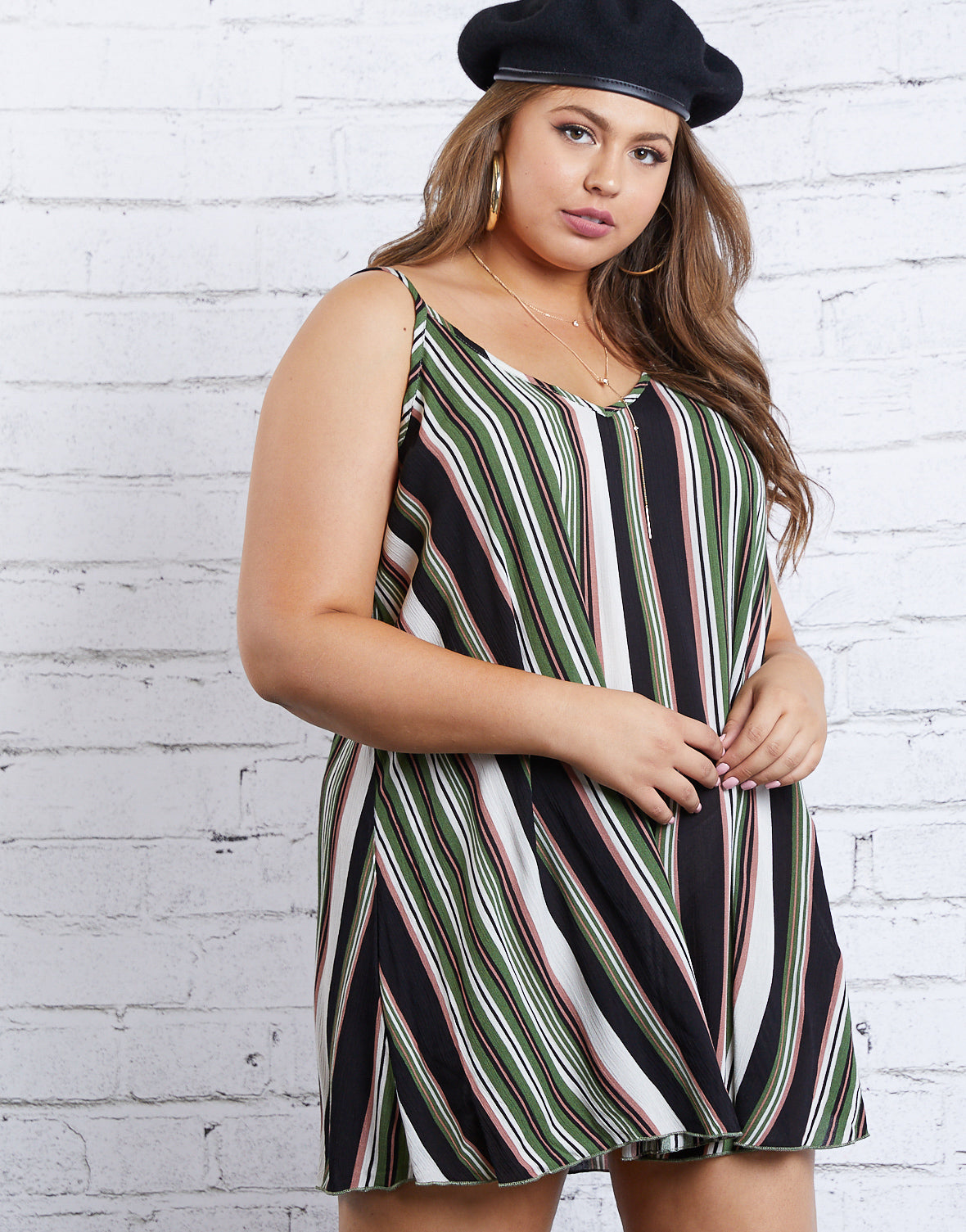 Plus Size All About Stripes Dress