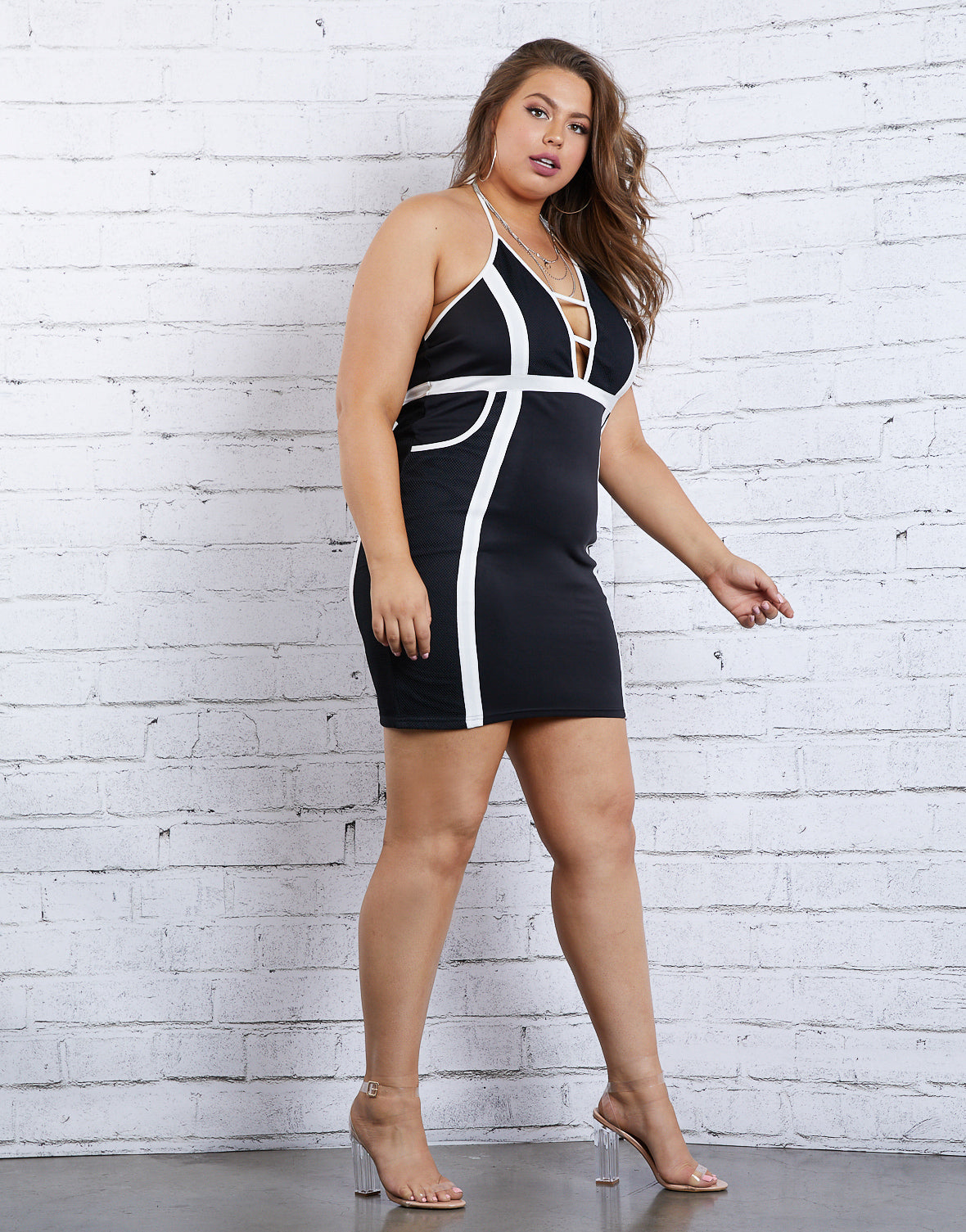 Plus Size All Eyes On Me Bodycon Dress