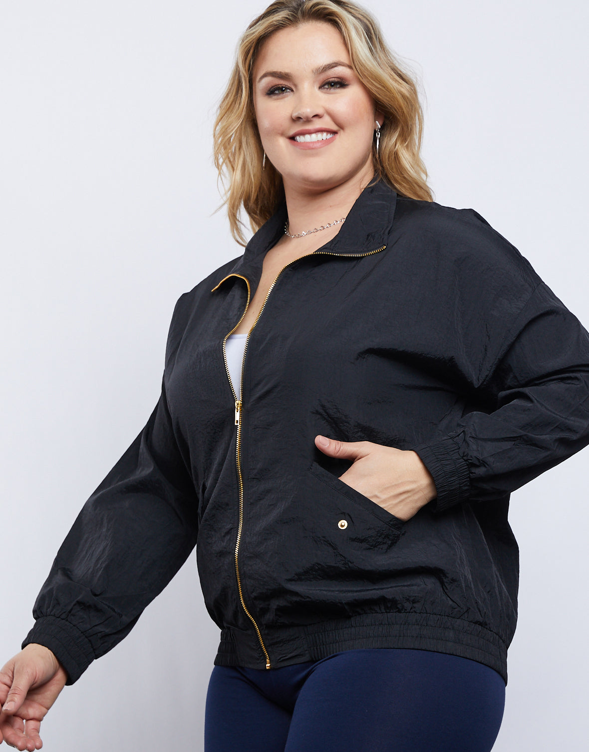 Plus Size All Necessities Windbreaker