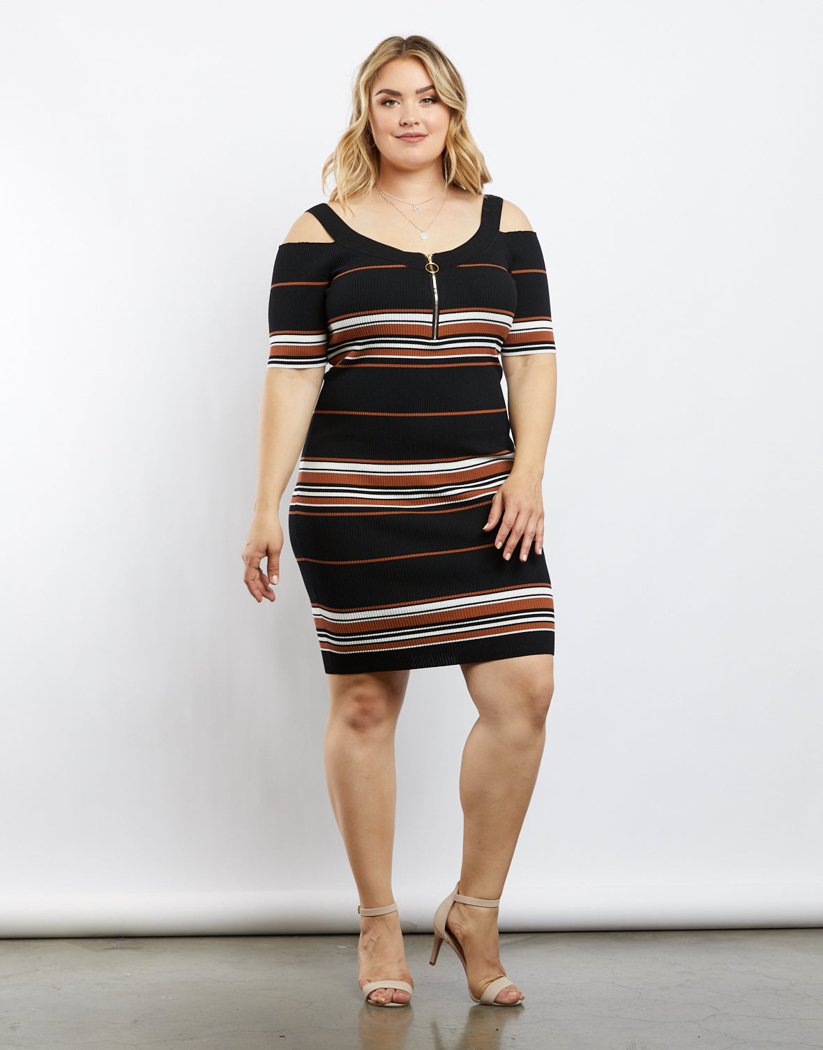 Plus Size All The Stripe Reasons Ribbed Dress