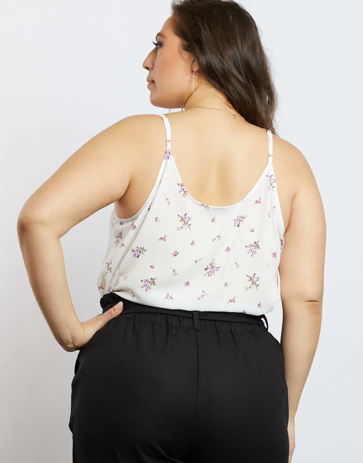 Plus Size All You Need Is Floral Tank Top