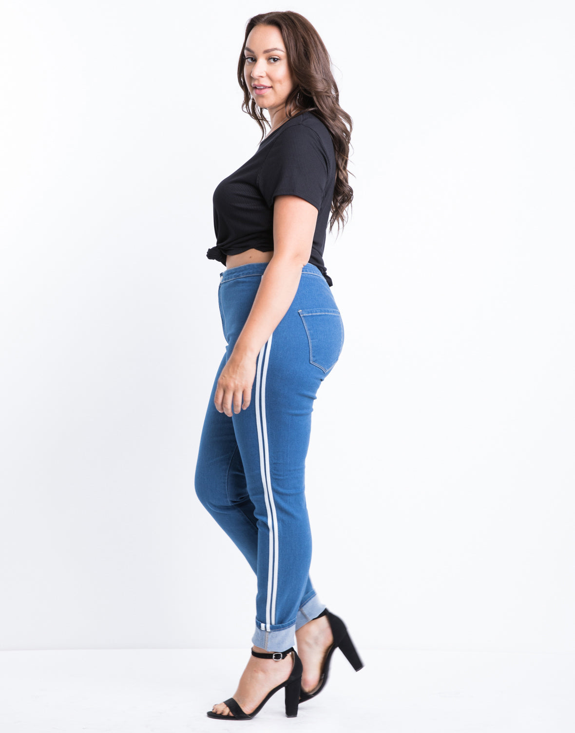Plus Size Along the Lines Skinny Jeans