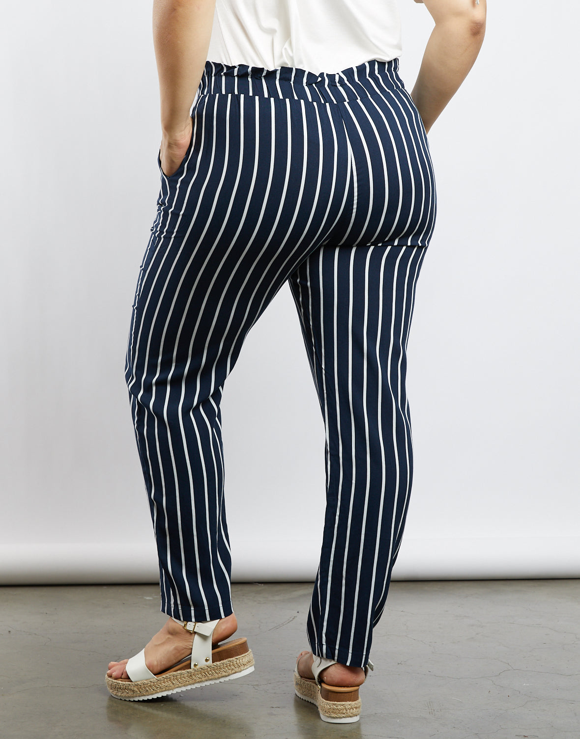 Plus Size Amelia Pinstriped Pants