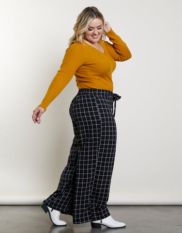 Plus Size Amy Windowpane Pants