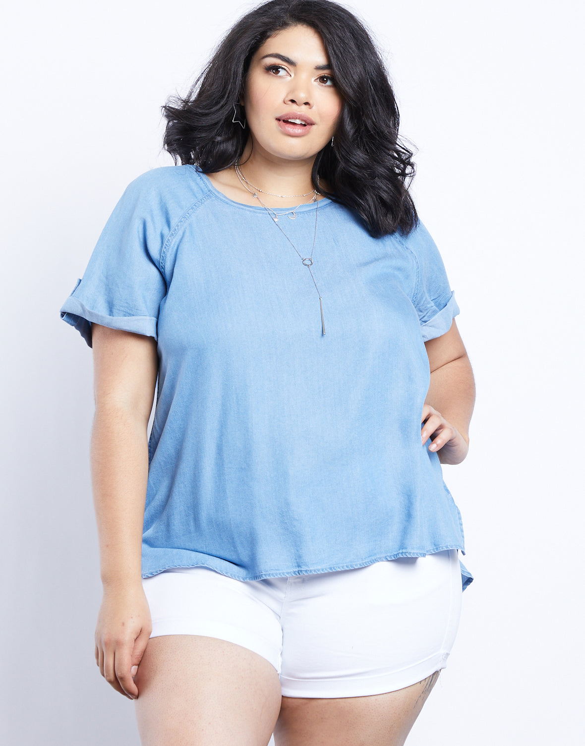Plus Size Ari Denim Tee