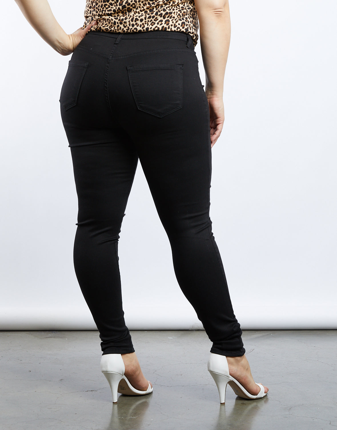 Plus Size Arie High Rise Skinny Jeans