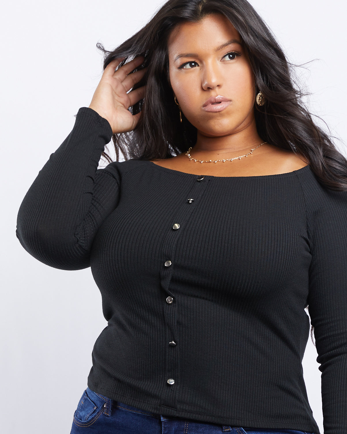 Plus Size Arya Wide Neck Top