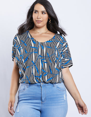 Plus Size Asha Printed Top