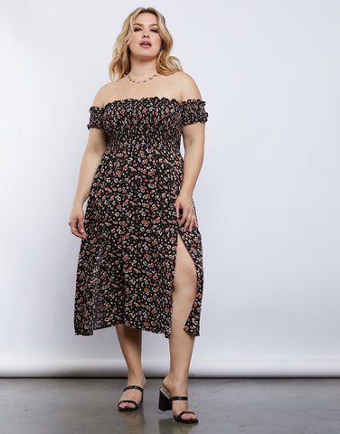 Plus Size Ashlyn Slit Dress