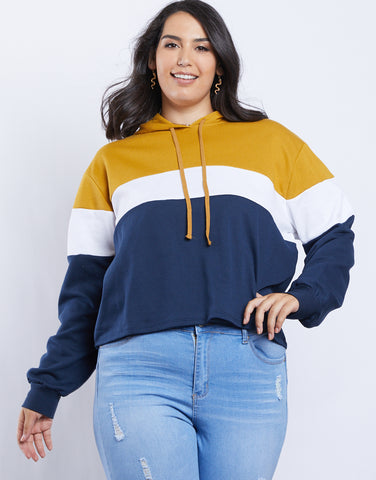Plus Size Ava Colorblock Hoodie