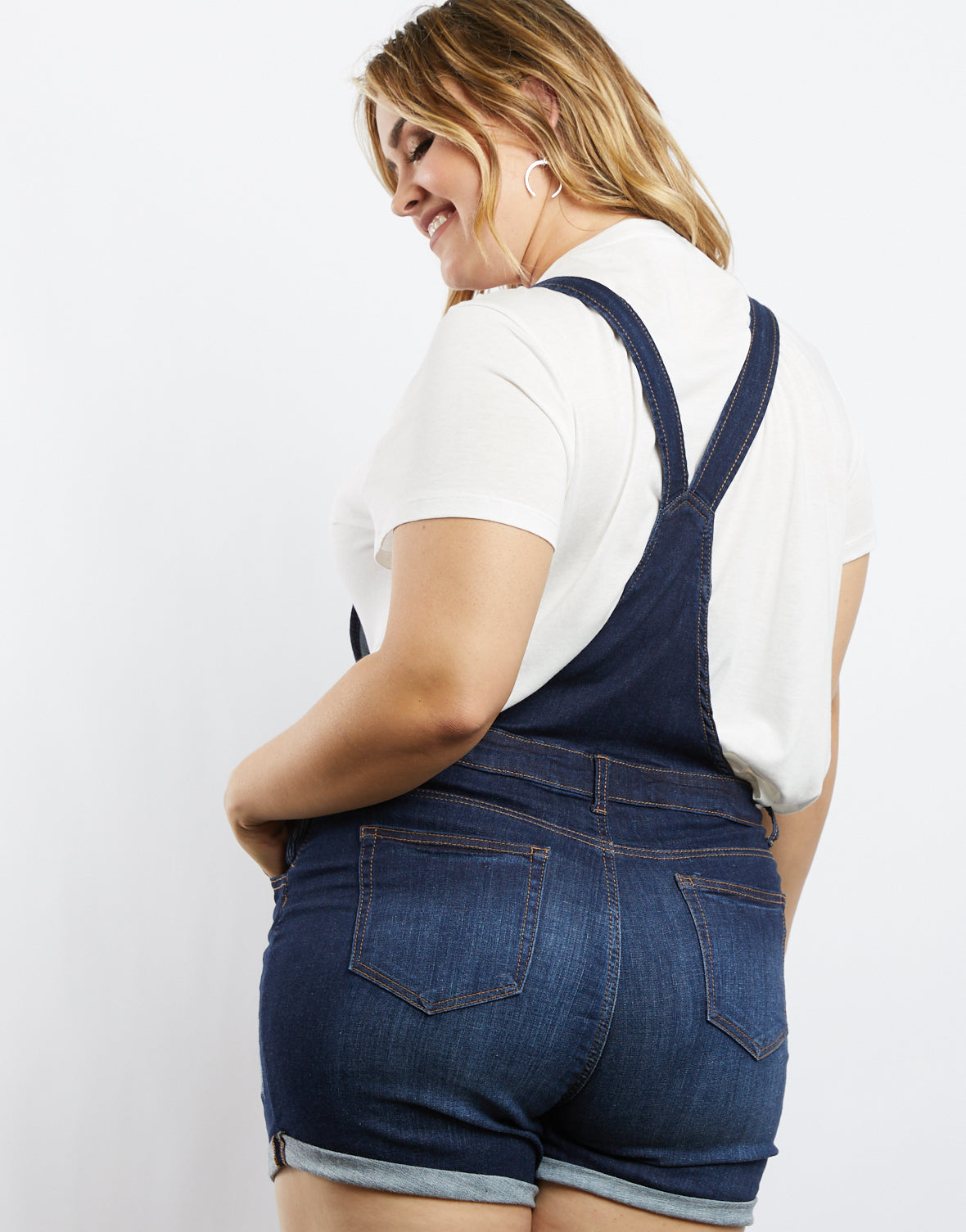Plus Size Avery Denim Overalls