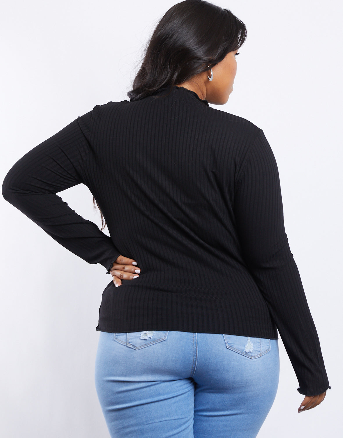 Plus Size Bella Ribbed Knit Top