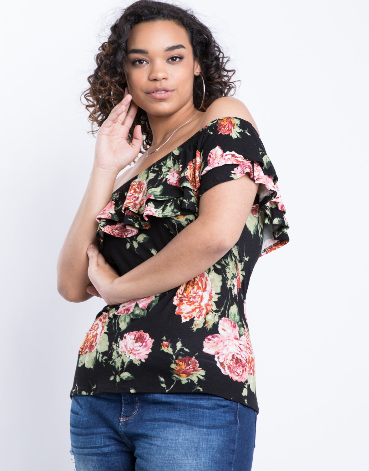 Plus Size Blushing Floral Top