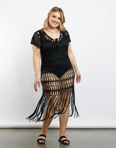 Plus Size Boho Girl Crochet Dress