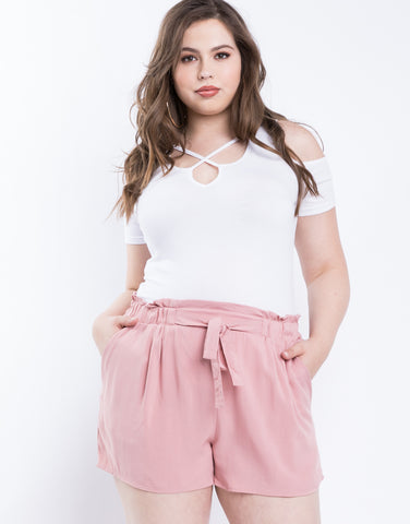 Plus Size Breezy Summer Shorts