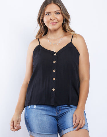 Plus Size Brielle Button Front Tank