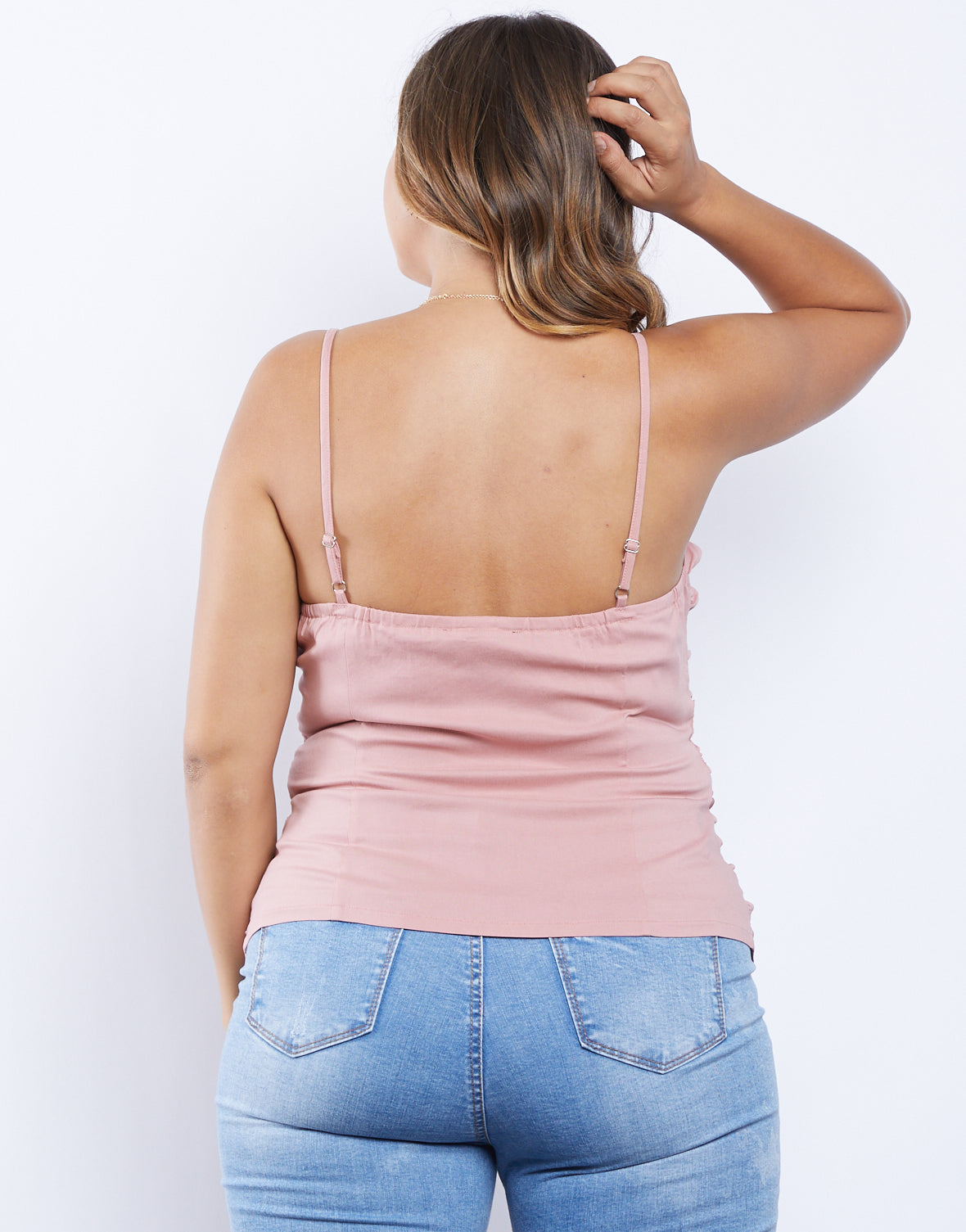 Plus Size Brynn Lace-Up Top