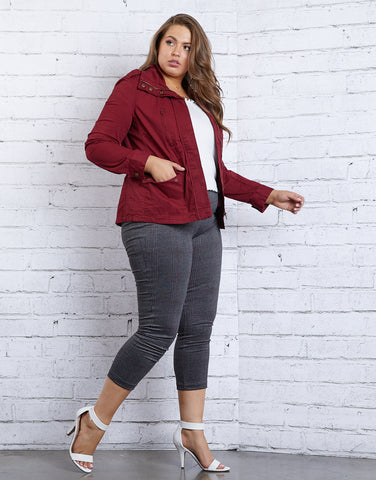 Plus Size Cargo Jacket