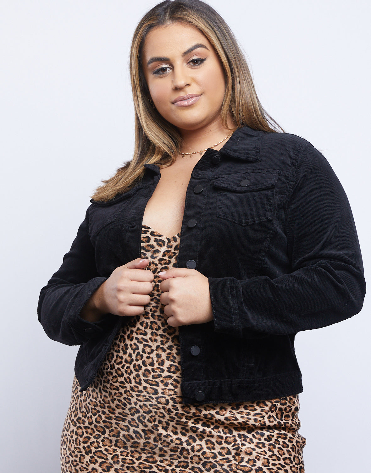 Plus Size Carly Corduroy Jacket