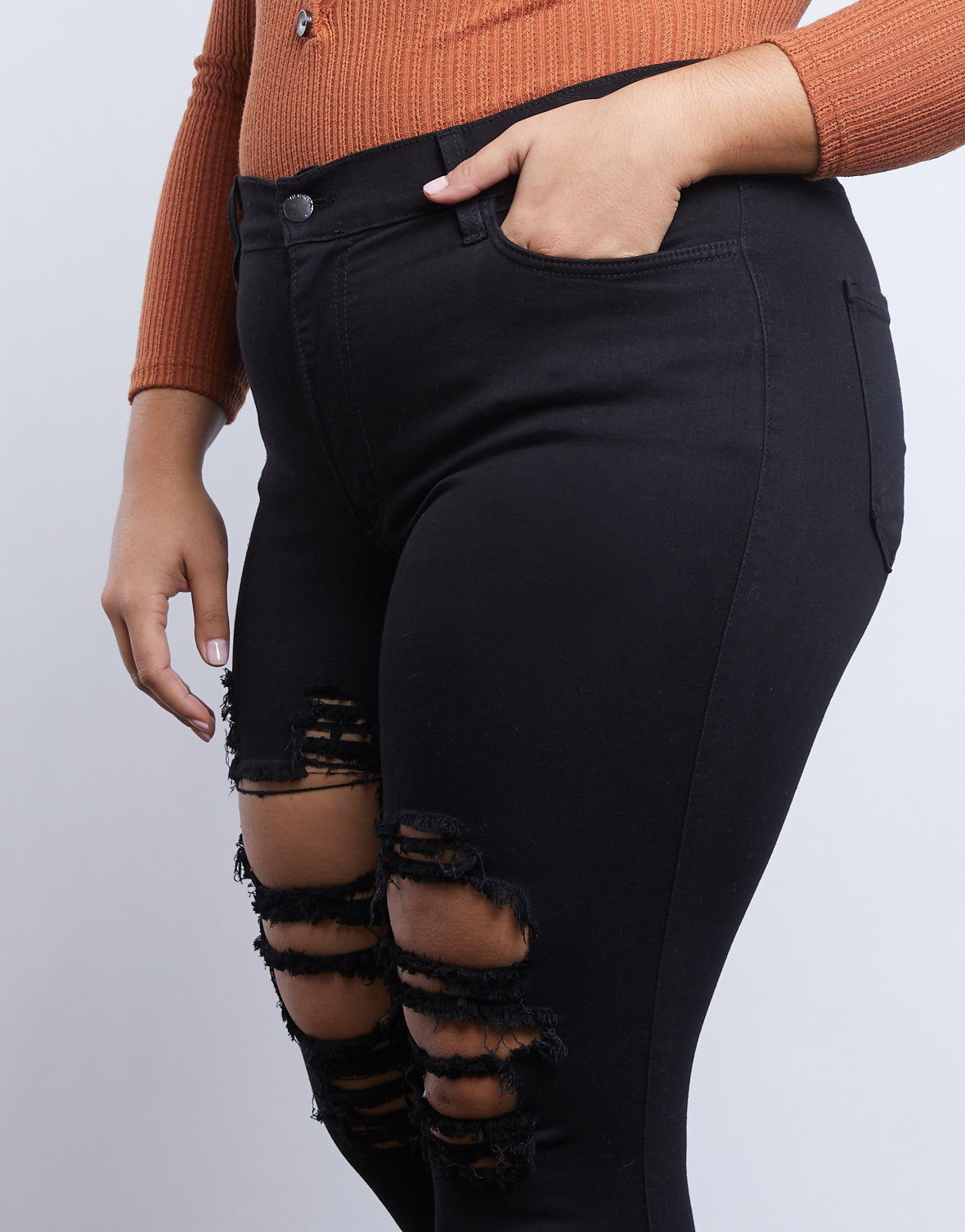 Plus Size Cassidy Distressed Jeans