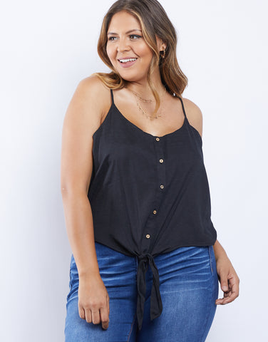 Plus Size Chill Girl Button Front Tank