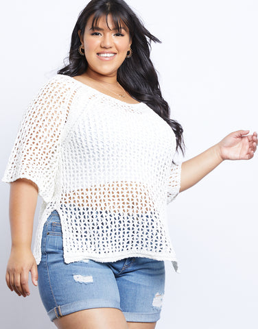 Plus Size Claire Knit Sweater Top