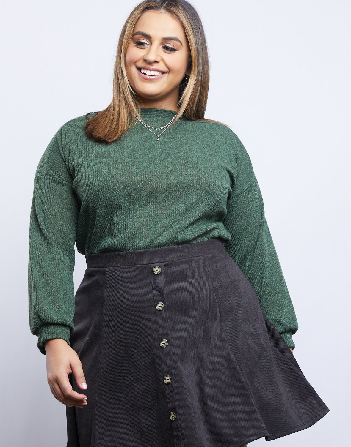 Plus Size Classic Boat Neck Sweater