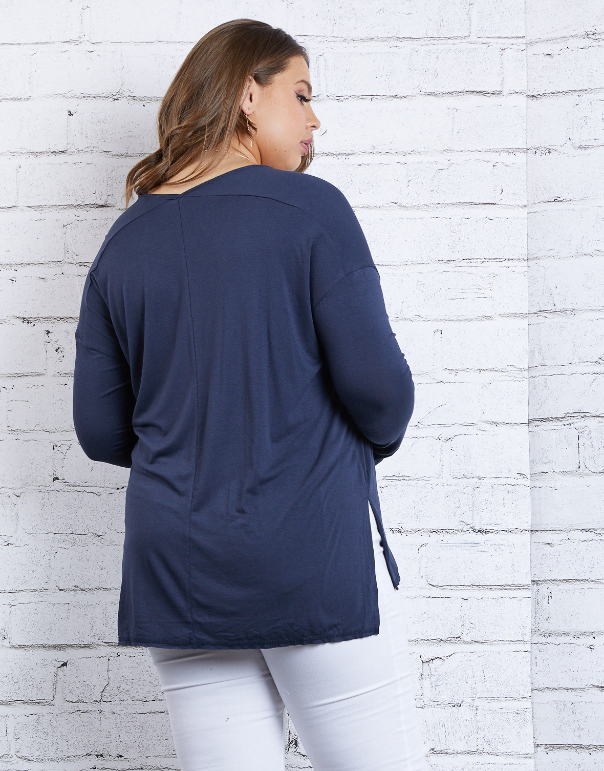 Plus Size Cozy Long Sleeve Tee