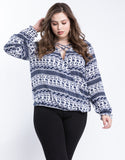 Plus Size Criss Cross Boho Top