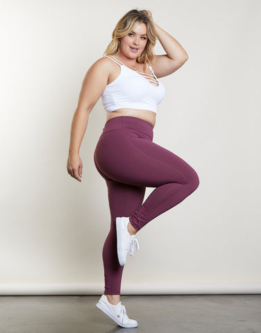 Plus Size Crisscross Back Leggings