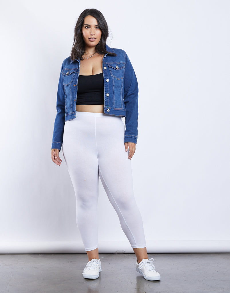 Curve Daily Comfy Leggings Plus Size Bottoms -2020AVE