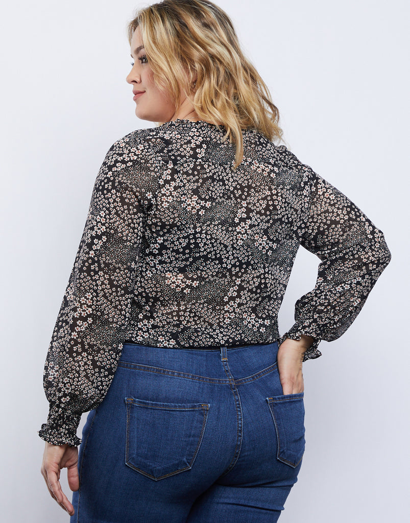 Curve Daisy Day Dream Top Plus Size Tops -2020AVE