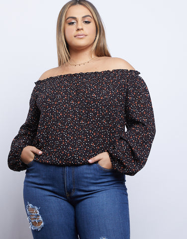 Plus Size Darling Dainty Floral Print Top