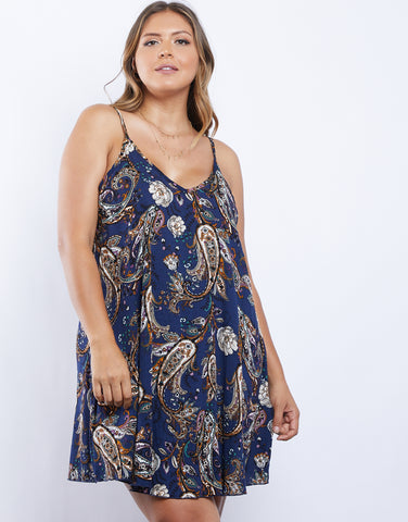 Plus Size Dreamy Girl Paisley Dress