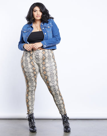 Plus Size Erika Snake Print Leggings