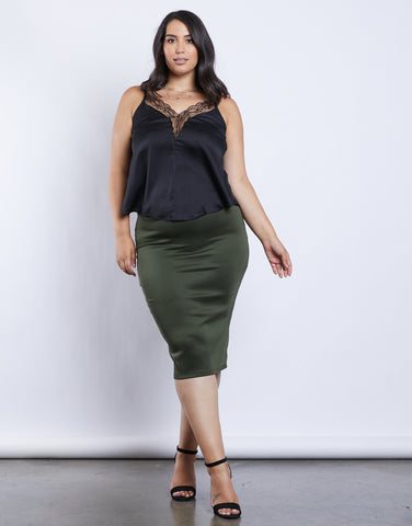 Plus Size Essential Bodycon Skirt