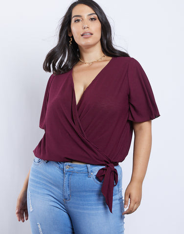 Plus Size Estelle Wrap Tee