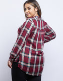 Plus Size Everyday Plaid Blouse