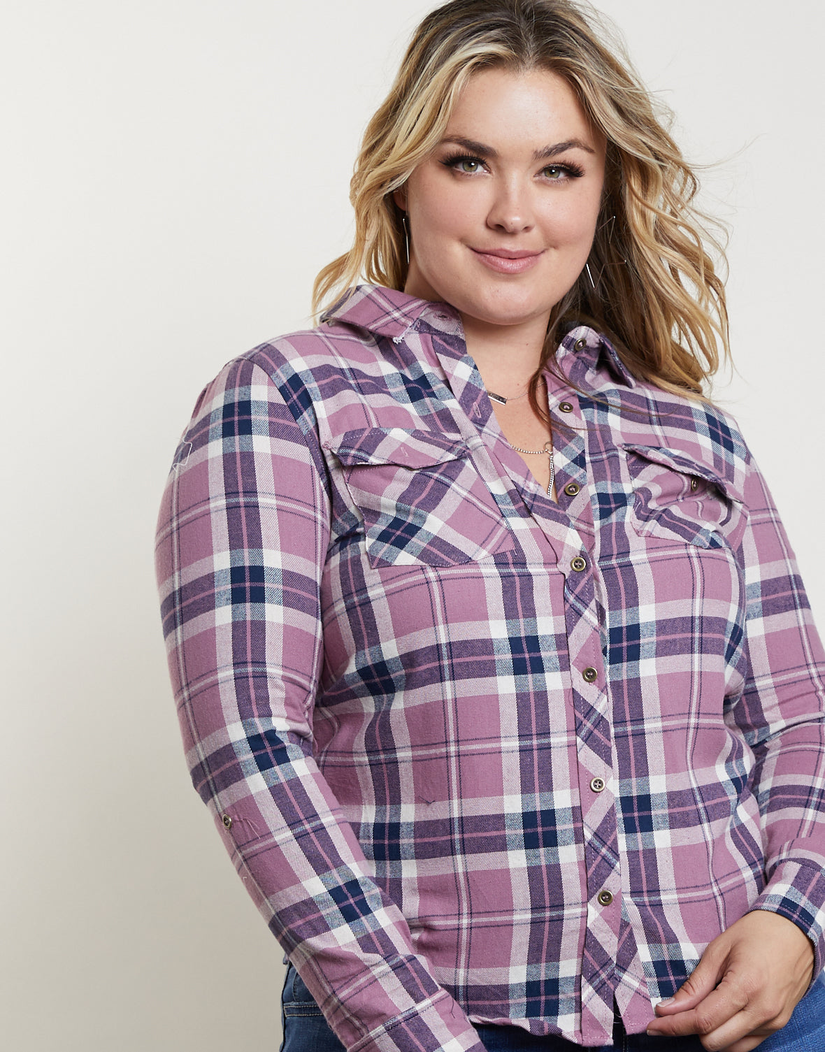 Plus Size Fall Ready Plaid Top