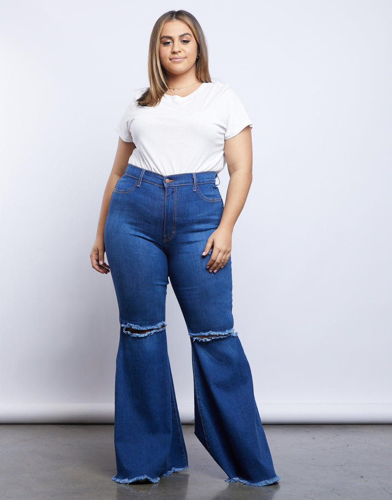 Curve Far Out Jeans Plus Size Bottoms -2020AVE