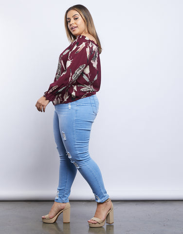 Plus Size Faye Feather Blouse