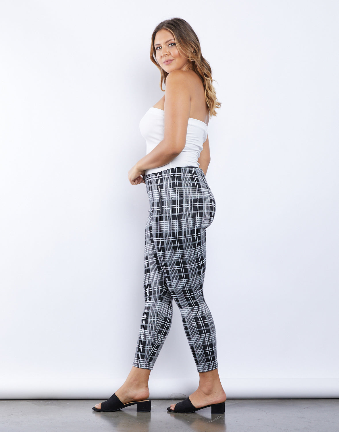 Plus Size Feelin' Fine Plaid Leggings