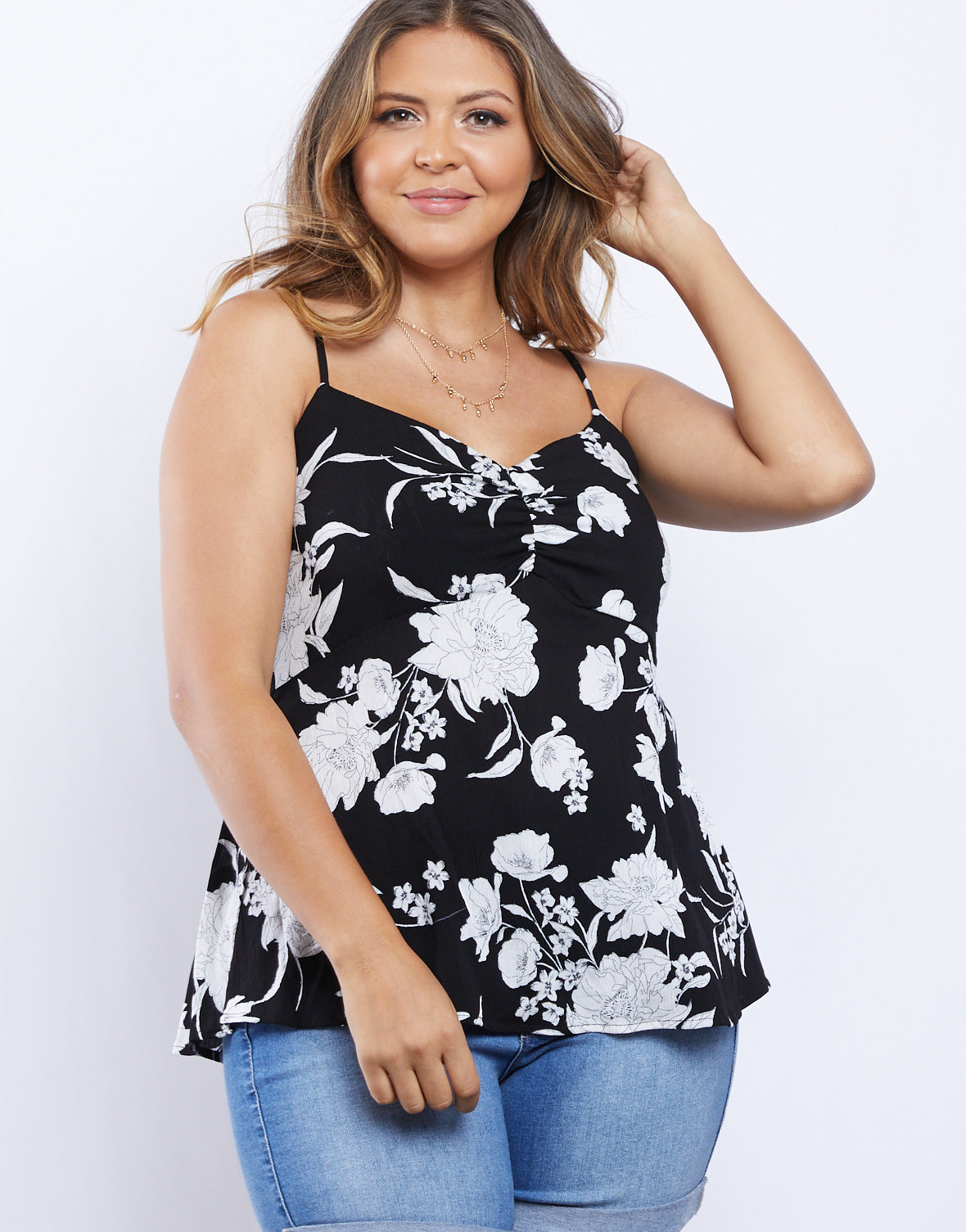 Plus Size Floral Days Tank